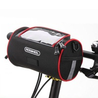 ROSWHEEL Basket 300D Polyester Fabric Mtb Bike Handlebar Bag Bicycle Front Tube Bag Shoulder Bag