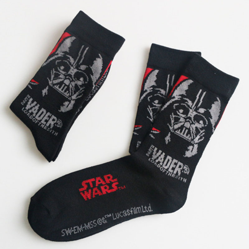 3d Print Starwar Movie Socks Women Men Cotton Personality Famous Painting Black Warrior Socks Funny Autumn Winter Socks Vintage