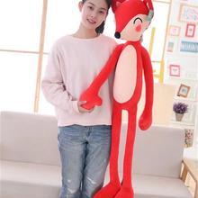 Длинная плюшевая игрушка с красной лисой, милая подушка с большой лисой, кукла в подарок около 120 см 2476
