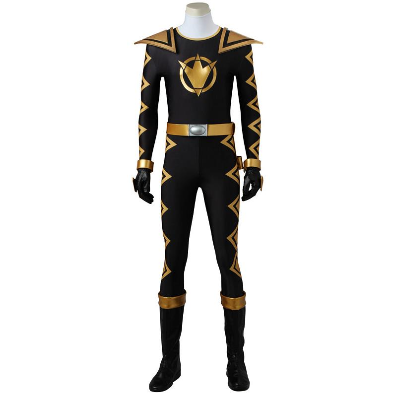 DinoThunder AbareBlack Cosplay Costume Dino Thunder Bodysuit Black with Boots Halloween Costumes for Adult Men Customized