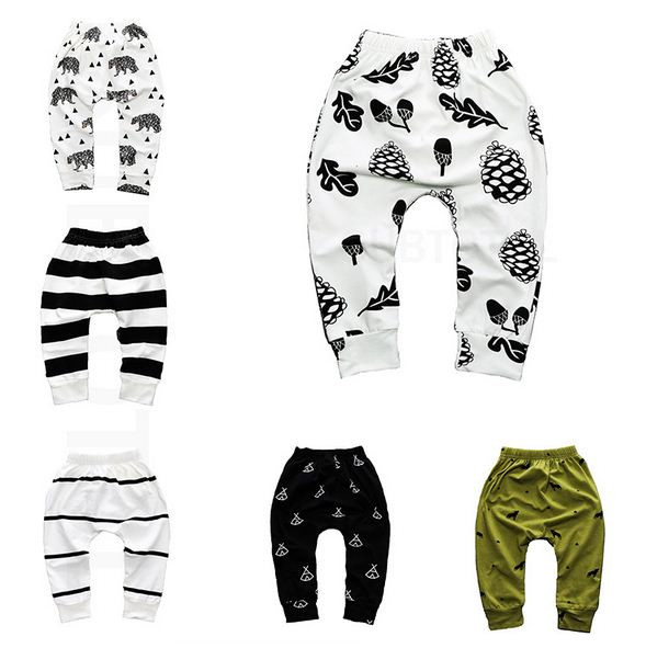 Print Pattern Cotton Baby Trousers Babys Boys Girls PP Pants For Sports Baby Harem Pants Kids For Newborn Girl Boy Clothing(China)