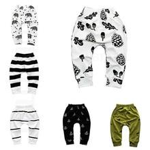 Детские хлопковые брюки с принтом детские спортивные штаны для мальчиков и девочек, детские шаровары детская одежда для новорожденных девочек и мальчиков