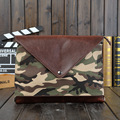 Crazy Horse 2016 new Korean male package Leisure documents Camouflage Clutch handbag envelope bag ipad bag
