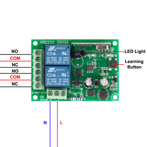 Image 3 - QIACHIP 433 Mhz Universel Sans Fil Commutateur de Commande À Distance AC 250 V 110 V 220 V 2CH Relais Récepteur Module + RF 433 Mhz Télécommandes