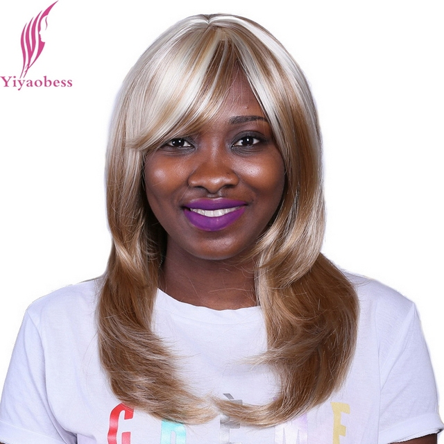 Yiyaobess 45cm Straight Long African American Bob Wigs For Black