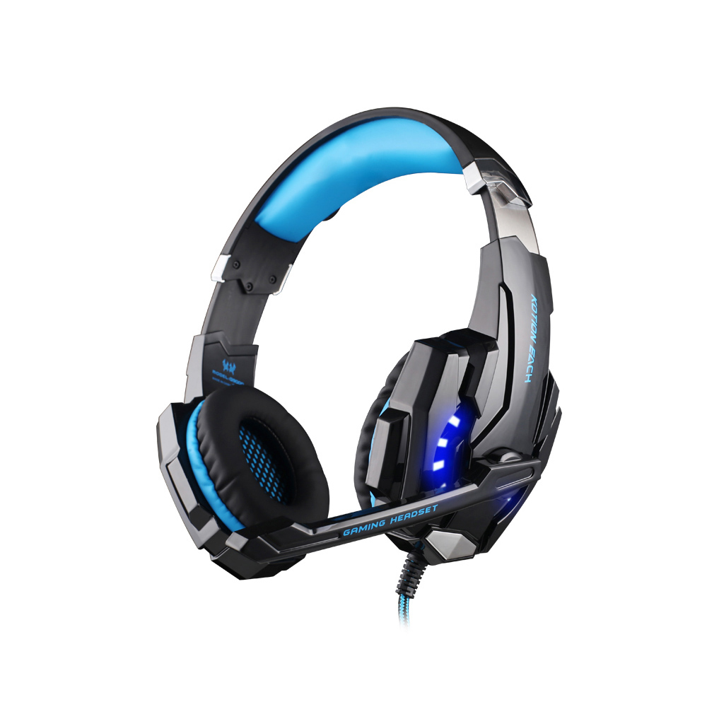 KOTION EACH G9000 Gaming Headset 3.5mm Wired Headband Earphones W/ LED Light Mic Stereo Game Headphone For Computer PC PS4 Gamer kotion each g9000 7 1 surround sound gaming headphone game stereo headset with mic led light headband for ps4 pc tablet phone