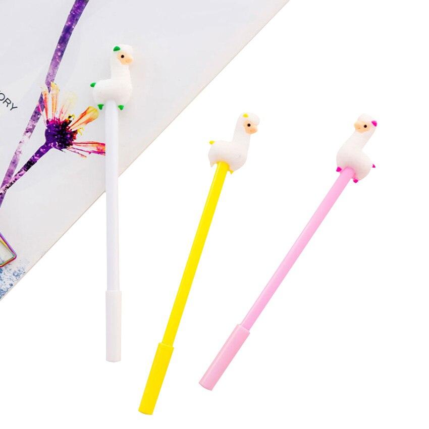 30 pcs lote super bonito alpaca dos desenhos animados de plastico 0 5mm gel caneta tinta