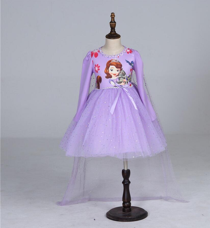 Children Girls Princess Sofia Dress Kids Tutu Dress Girl Birthday ...