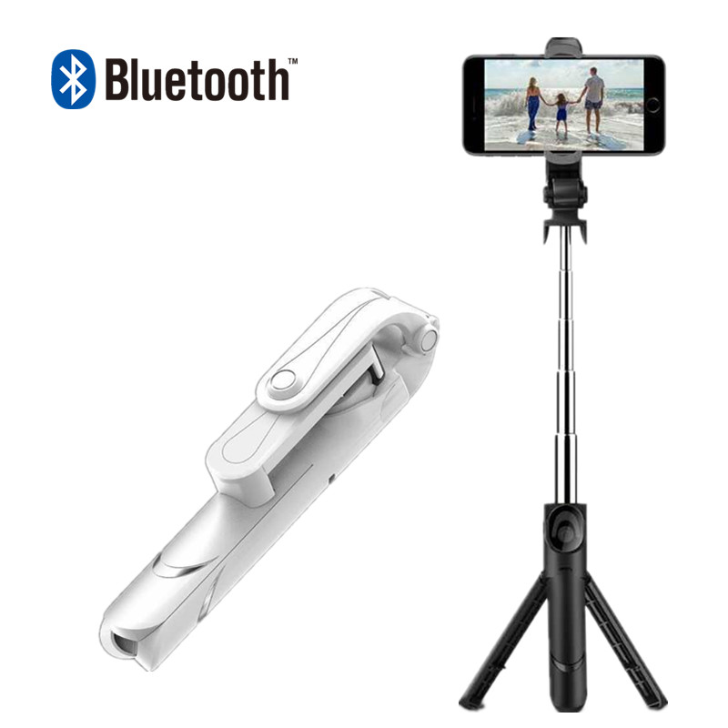 FG3 Mini Bluetooth Selfie Stick Foldable Tripod Mirror Remote Selfie Stick For IOS iPhone X 8 7 Plus Xiaomi Samsung Android