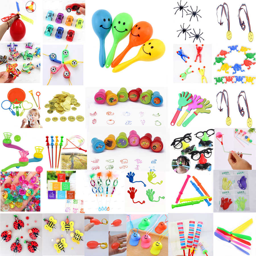 Kids Birthday Party Favors Filler Gift Toys Bag Toys Carnival Prizes Event  Party Toys for Boys and Girls whistle balloon maraca