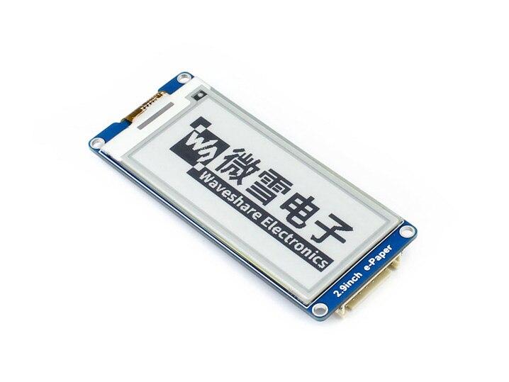 Waveshare 2.9 pouces E-ink affichage e-papier module SPI interface Prend En Charge Raspberry Pi Arduino Nucleo etc utiliser pour plateau étiquette etc