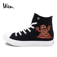 Wen Shoes High Top Lace Up Flat Canvas Sneakers Original Design Monster Mud Man Skateboarding Shoes