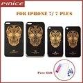 Новый Назад Крышку Корпуса Для iPhone 7 7 Plus Золотой Череп Шаблон Ограниченным Тиражом Металла Назад Шасси Замена Рамы