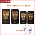 New Back Housing Cover For iPhone 7 7 Plus Gold Skull Pattern Limited Edition Metal Back Chassis Replacement Frame