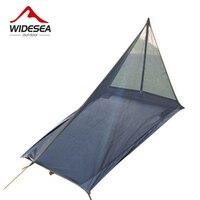 2017 widesea đi bộ đường dài lều Siêu nhẹ 580 Gam xách tay Gauze Lều mà không cần ba lan muỗi lều cho ngoài trời camping hunting câu cá