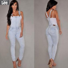 American Apparel Time-limited Cotton Light Women Jeans 2016 New Women's Denim Overalls Suspenders Piece Jeans Free Shipping