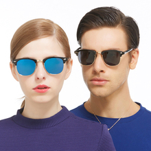 RBUDDY Polarized Sunglasses Men Women clubmaster Brand Designer Half Frame Mirror Sun Glasses Driver lunette de soleil femme