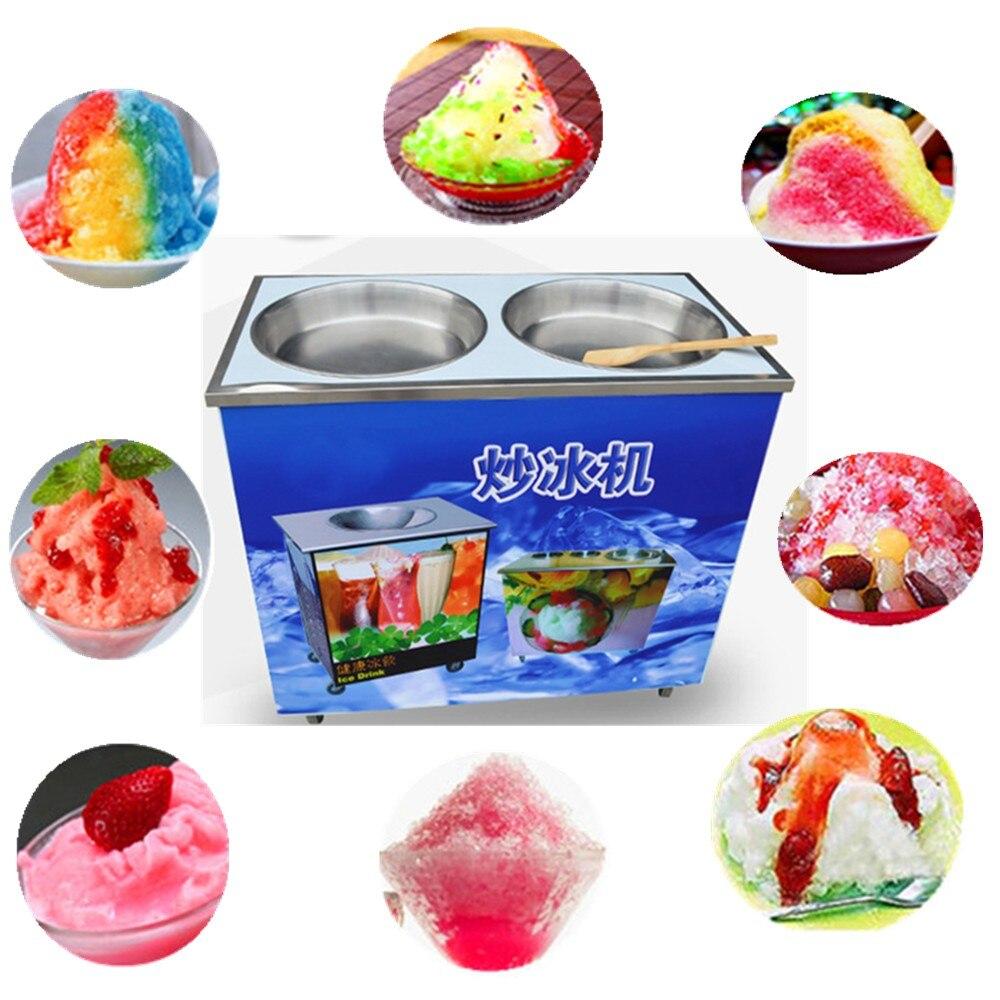 China hot sale double pan fried ice cream machine ice maker machine