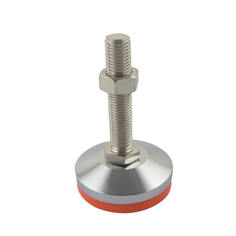 M12x80mm Adjustable Foot Cups 80mm Diameter Chrome Plated M12 Thread 80mm Length Articulated Leveling Foot 12 foot