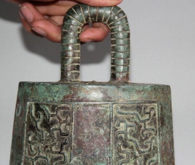 JP S62 12 Архаического Династия Китайский Дворец Бронзовый плоским Храм храм висит Колокол Чжун - 2