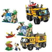 Bela 10711 City Jungle Explorers Jungle Mobile Lab Building Block 465pcs Bricks Toys Compatible With Bela City 60160