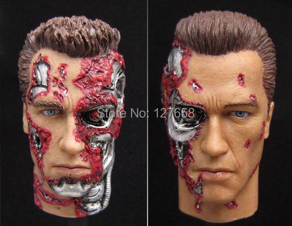 "Free Shipping 1//6 scale Head Sculpt Arnold Schwarzenegger T800 unpainted fit 12/"""