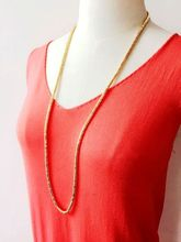 Seed beads Long Chain Necklace for Women Collar Necklace
