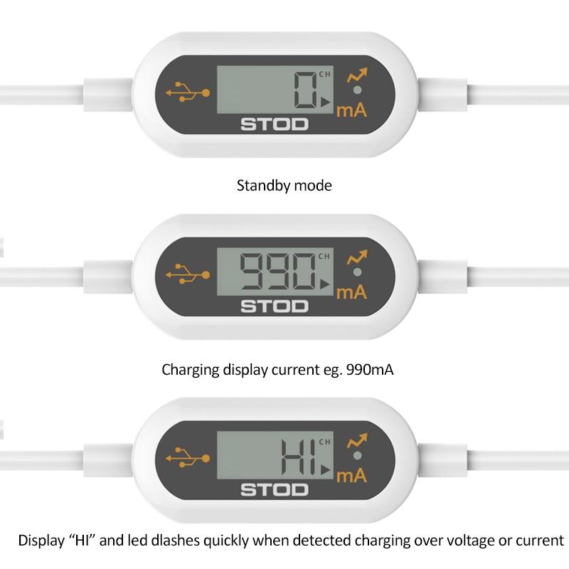 STOD միկրո USB մալուխի LED մոնիտորինգի - Բջջային հեռախոսի պարագաներ և պահեստամասեր - Լուսանկար 5