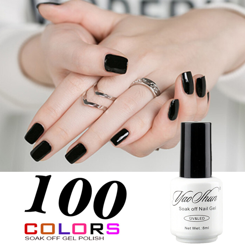 Yao shun top selling black neutral colors gel nail polish for Top rated neutral paint colors