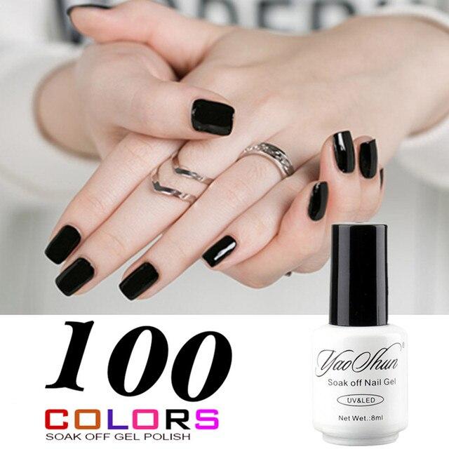 Yao Shun Top Selling Black Neutral Colors Gel Nail Polish French ...