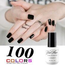 YaoShun Negro Neutral colores extremidades del clavo francés 8 ml esmalte de uñas de gel soak-off de larga duración led/uv gel nail polish