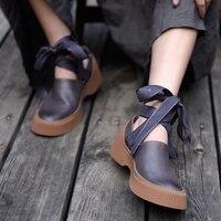 Artmu/на шнуровке Женская обувь на плоской подошве модная удобная женская обувь из натуральной кожи ручной работы женские персонализированны