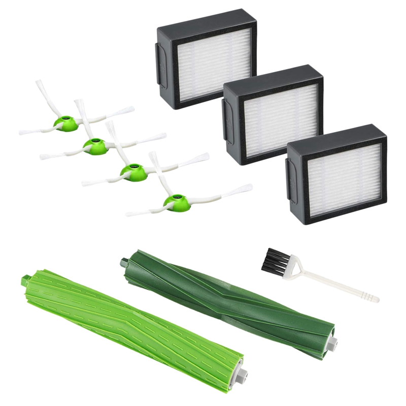 10Pcs/Set Replenishement Kit For Irobot Roomba I7 I7+/I7 Plus E5 E6 E7 Vacuum Accessories Replacement Parts With 1 Set Extract