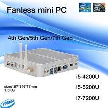 Linux/windows 10 pc i5 4200u/5550u i5 5250u/5200u i5 7200u cpu fanless htpc.3 anos de garantia nuc hd620 freeshipping