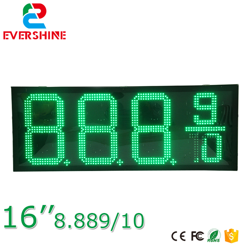 High brightness low power consumption outdoor waterproof oil fuel station gas price displays 8.88 9/10 16 inch single green b101xt01 1 m101nwn8 lcd displays