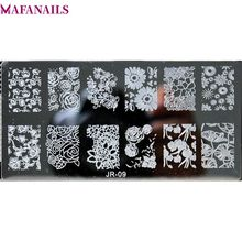 1Pc 6*12CM Nail Art Image Plates Rose/Daisy Flower Design Stamping Polish Stamp Templates 30 Styles#