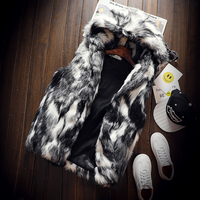 Winter Faux Fur Men S Vest Hot Men And Women Hooded Vests Slim Warm And Comfortable
