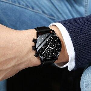 Image 5 - Mens Watches Top Luxury Brand Mens Wristwatch Clock Fashion Quartz Watch Men Sports Waterproof Watches Male Chronograph Clock