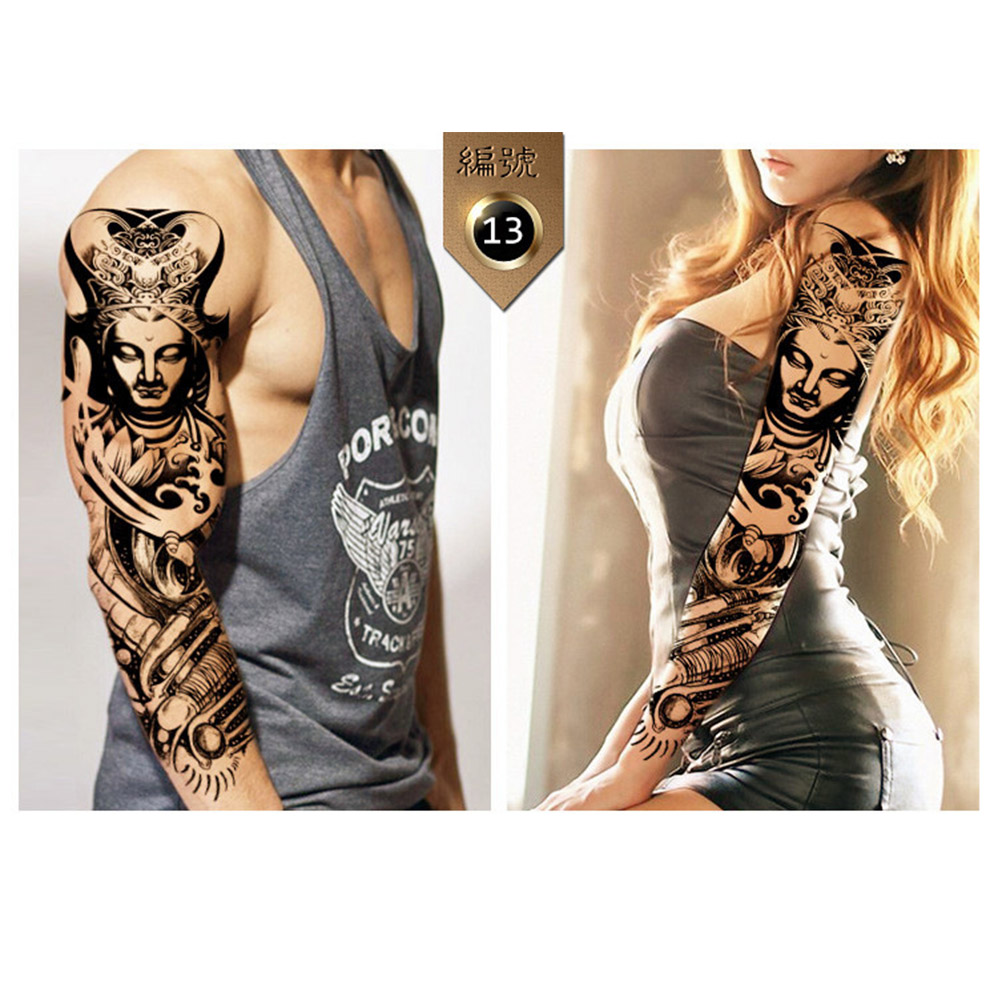 Pattern waterproof arm sleeve body shoulder temporary tattoo sticker - 10pcs Set Full Arm Waterproof Temporary Tattoo Body Art Animal Unisex Arm Sleeves Tattoo Sticker In Temporary Tattoos From Beauty Health On Aliexpress Com
