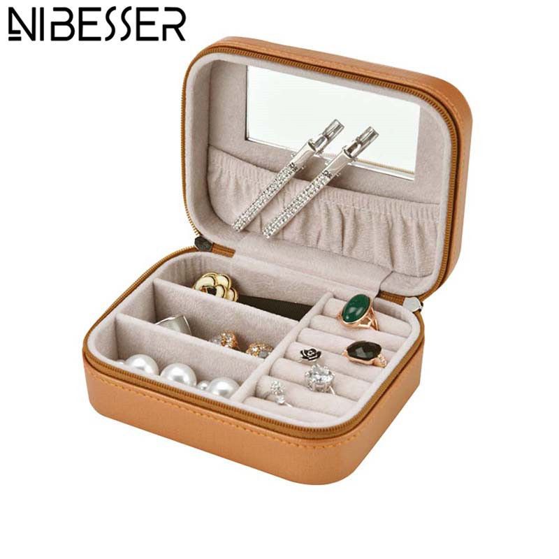NIBESSER Portable Cosmetic Case Makeup Case Women Travel Jewelry Box Professional Jewel Casket Necessaries Make Up Organizer box