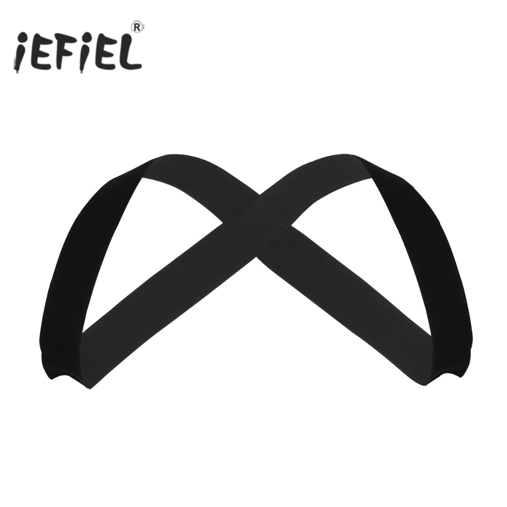 iEFiEL Mens Strong Nylon X-Shape Back Elastic Shoulder Body Chest Muscle Harness Costume Belt Bondage Night Party Clubwear