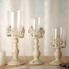 European Home Retro Candlestick Wrought Iron Glass Wedding Candle Crafts Table Wedding Tanabata Candlelight Dinner Decoration цена