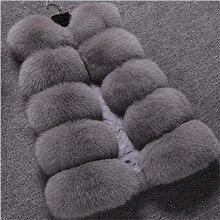 New Autumn Winter Fox Fur Coat Loose Skirt Type Silver Fox Imitation Fur Vest Plus Size Vest In Middle Long Large  Women  A2291