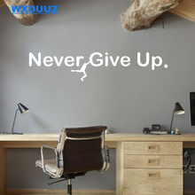Office Wall Stickers Text Never Give Up Inspirational Wall Decor Home Decor Art Decor Living Room Wall Decals C82 cheap Characters Window Stickers For Wall Switch Panel Stickers For Smoke Exhaust For Cabinet Stove Toilet Stickers For Tile For Refrigerator