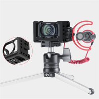 Metal Camera Vlog Cage for Sony RXO LL with 1/4 Screw Holes Mount Bracket Adaptor For GoPro Camera Microphone Tripod Fill Light