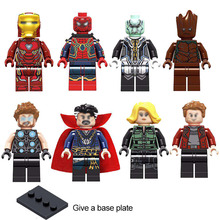 Single sale Super heroes series Bricks Compatible Legoed City Figures building blocks Educational Models toys for children gift