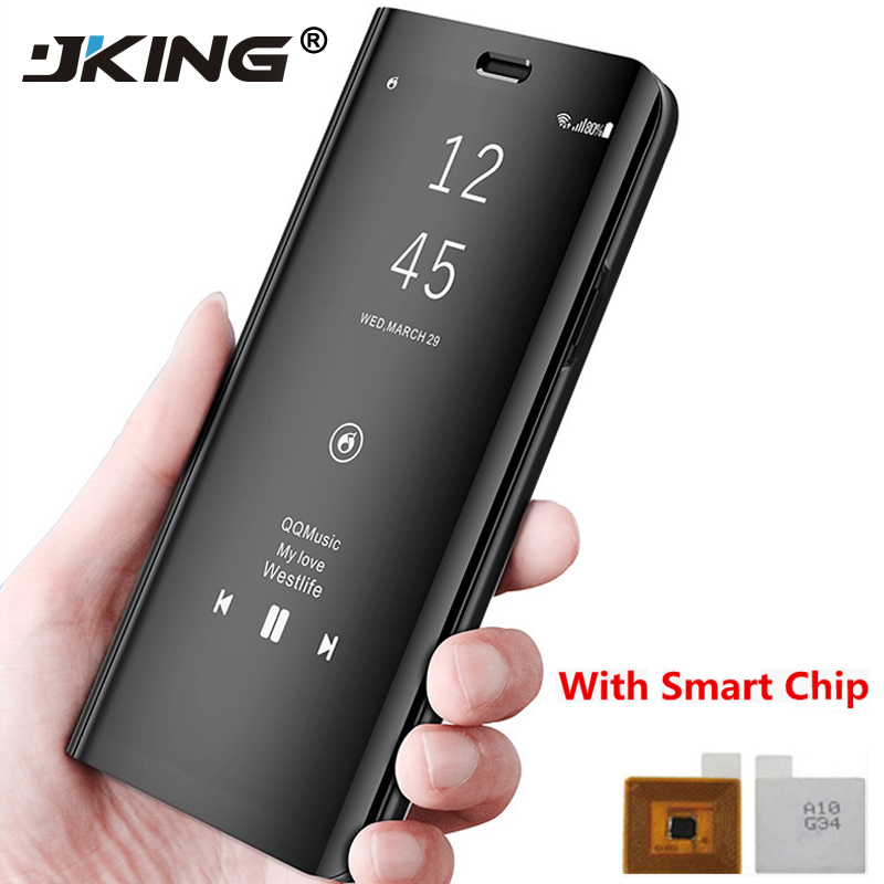 JKING Touch Flip Stand Case for Samsung Galaxy S8 Plus S6 S7 Edge Note8 Note5 Phone Case Smart Chip Clear View Cover