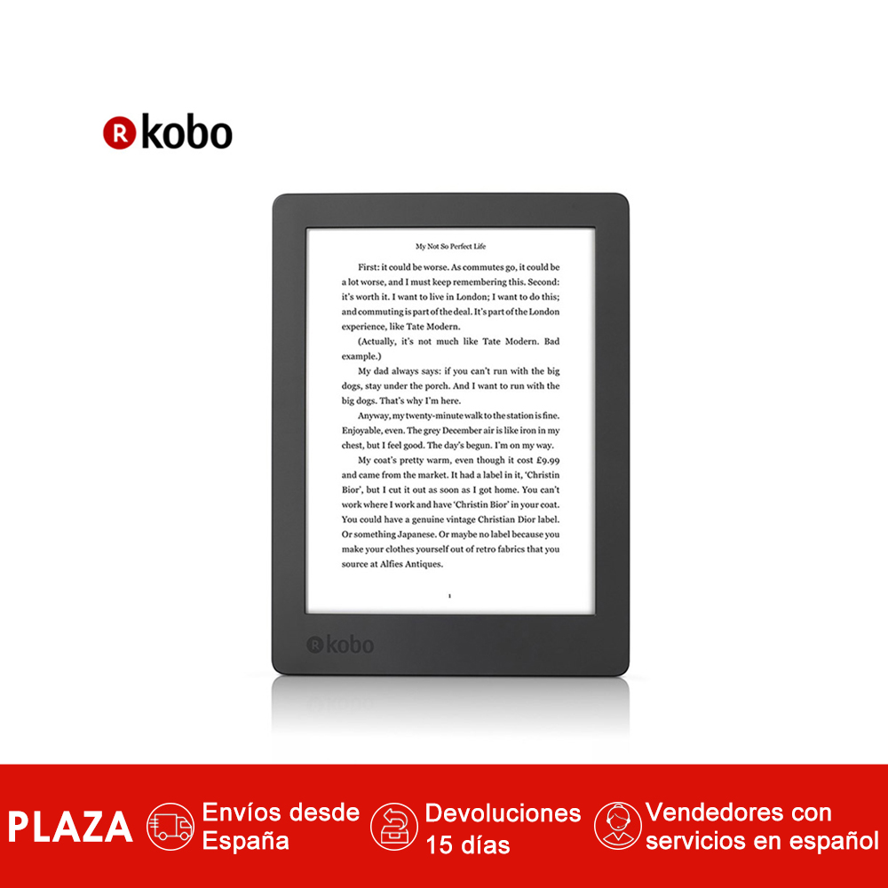 "EReader Kobo Aura H2O 2nd Edition 6,8""tactil impermeable Ebook reader 8 gb WiFi pantalla de alta resolucion de 1440x1080 pixeles"