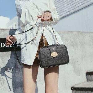 Image 3 - Kadın çantası zincir Crossbody omuzdan askili çanta Mini kadın telefon cebi zincir PU suni deri çanta küçük postacı çantası debriyaj 2019