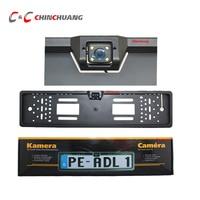 4 LED HD CCD Car Reverse Camera EU European License Universal Rear View Camera Backup Reverse
